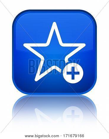 Add To Favorite Icon Shiny Blue Square Button