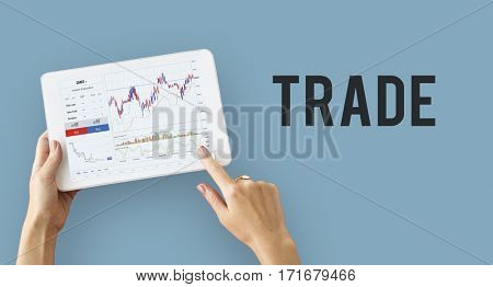 Financial forex business chart report