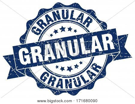 granular. stamp. sign. seal. round. retro. ribbon