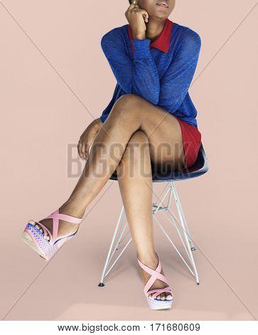 African Woman Confidence Self Esteem Studio Portrait
