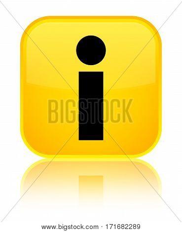 Info Icon Shiny Yellow Square Button