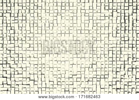 White abstract image of cubes background. 3d rendering