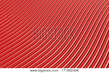 Red abstract image of lines background. 3d rendering