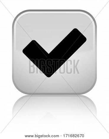 Validate Icon Shiny White Square Button