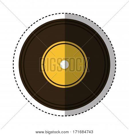 long play retro music icon vector illustration design
