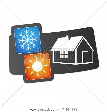 Air conditioner for home design for vector