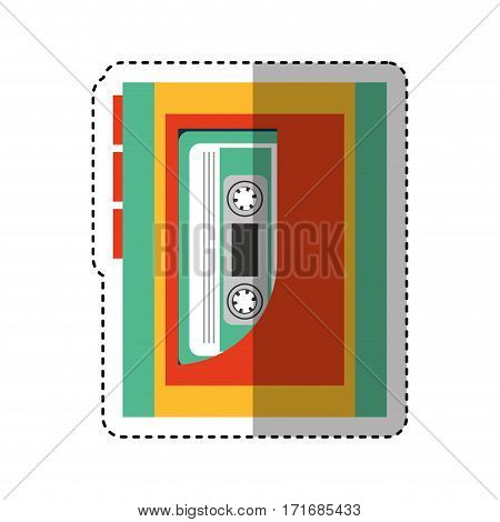 cassette music player old fashion vector illustration design