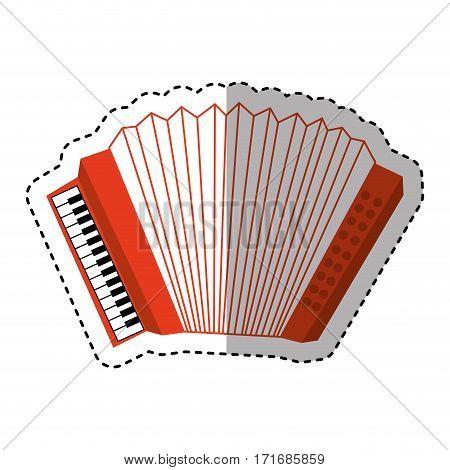 accordion instrument musical icon vector illustration design