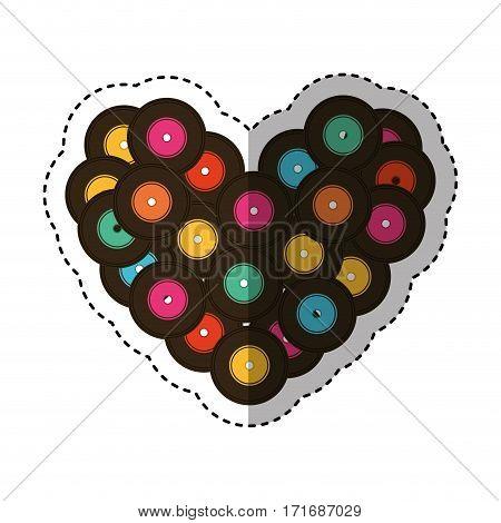 long play love music icon vector illustration design