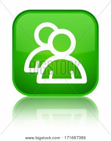 Group Icon Shiny Green Square Button