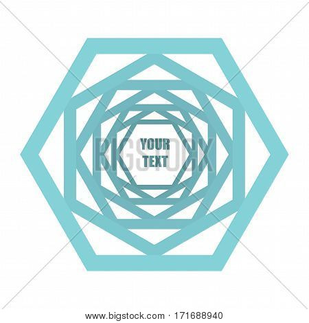 Communication concept hexagon icon - template with copy space area