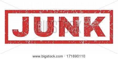 Junk text rubber seal stamp watermark. Caption inside rectangular banner with grunge design and unclean texture. Horizontal vector red ink sign on a white background.