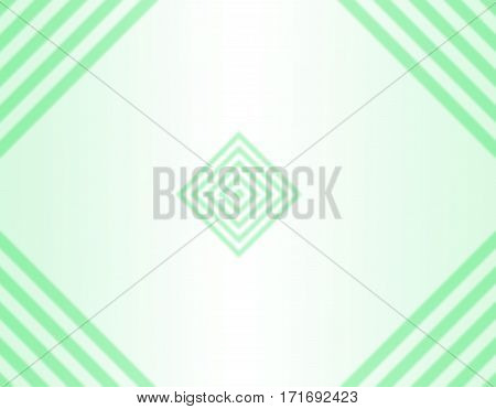 simple background with green rhombus and parallel lines in the corners