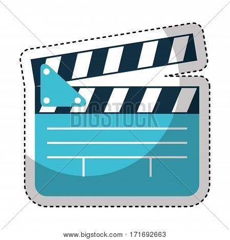 video clapperboard isolated icon vector illustration design