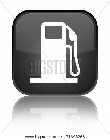 Fuel Dispenser Icon Shiny Black Square Button