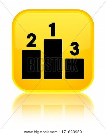 Podium Icon Shiny Yellow Square Button