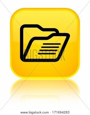 Folder Icon Shiny Yellow Square Button