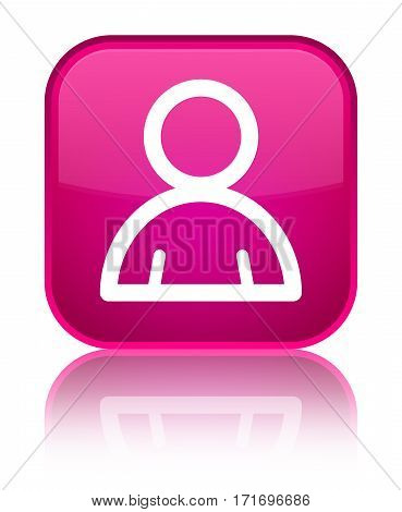 Member Icon Shiny Pink Square Button
