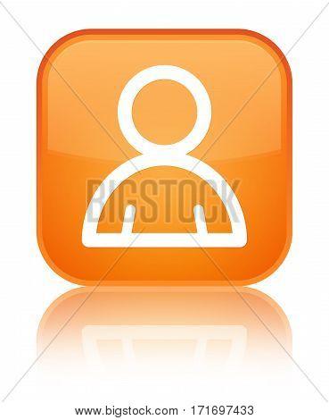 Member Icon Shiny Orange Square Button