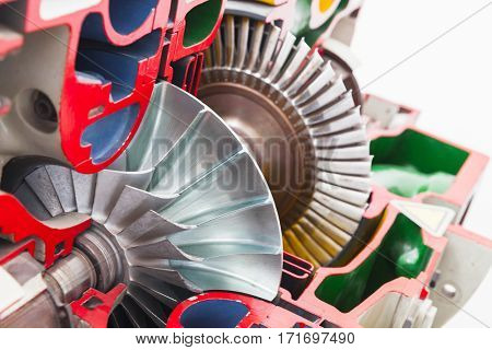 Turbine Structure Colorful Model