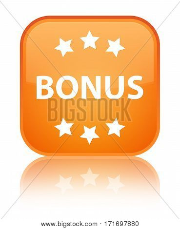 Bonus (stars) Icon Shiny Orange Square Button