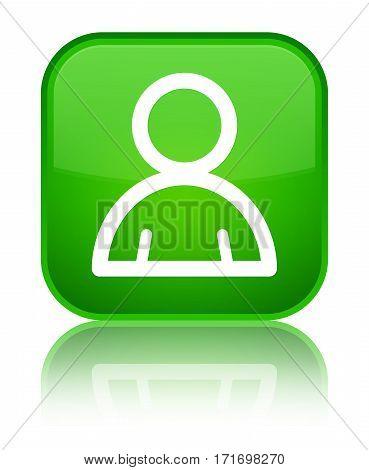 Member Icon Shiny Green Square Button
