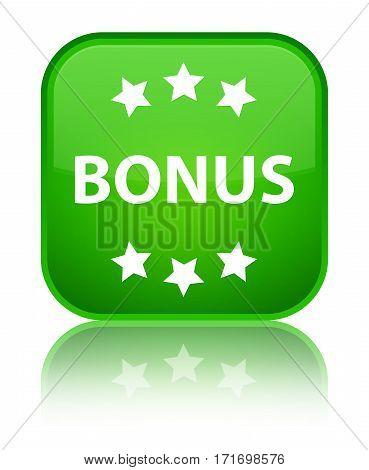 Bonus (stars) Icon Shiny Green Square Button