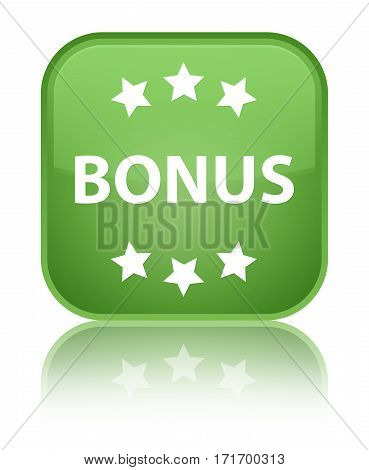 Bonus (stars) Icon Shiny Soft Green Square Button