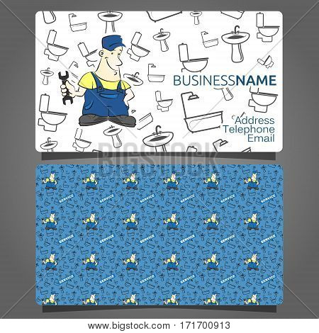 The business card for a plumber vector