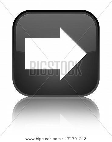 Next Arrow Icon Shiny Black Square Button
