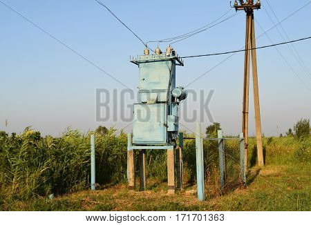 Transformers For Voltage Conversion. Power Infrastructure. The Old Equipment