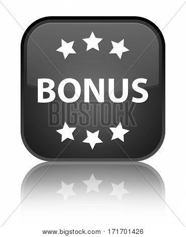 Bonus (stars) Icon Shiny Black Square Button