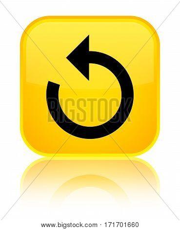 Refresh Arrow Icon Shiny Yellow Square Button