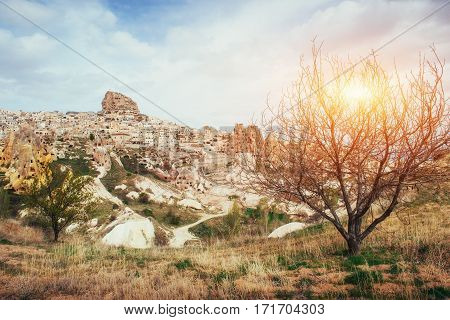 Review unique geological formations in Cappadocia, Turkey Kappa