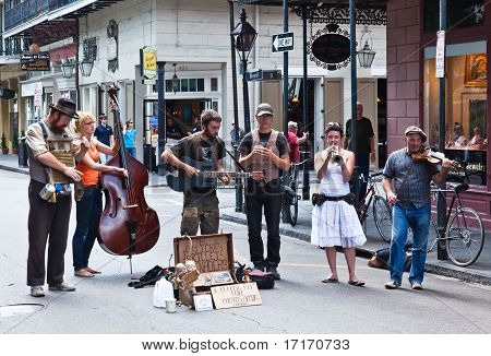 A Jazz Band Plays In Jackson Square