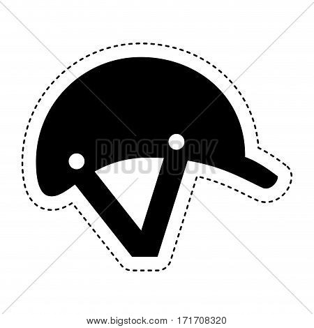 jockey helmet isolated icon vector illustration design