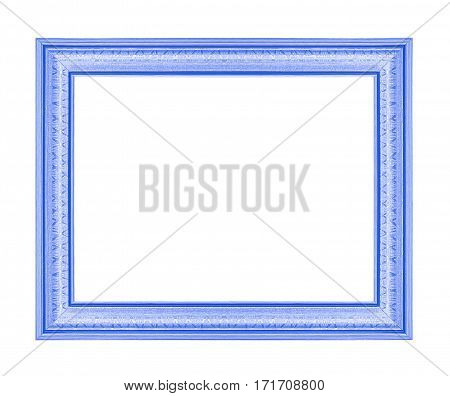 The blue frame isolated on white background