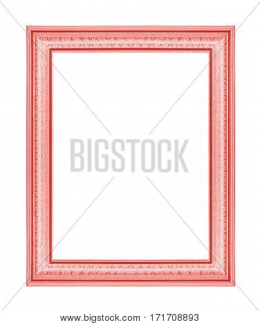 The red frame isolated on white background