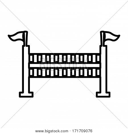 equestrian fence isolated icon vector illustration design