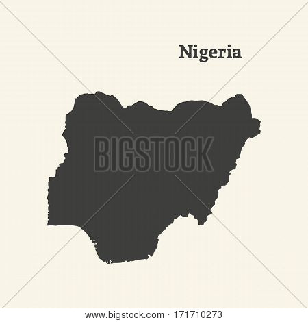 Outline map of Nigeria. Isolated vector illustration.