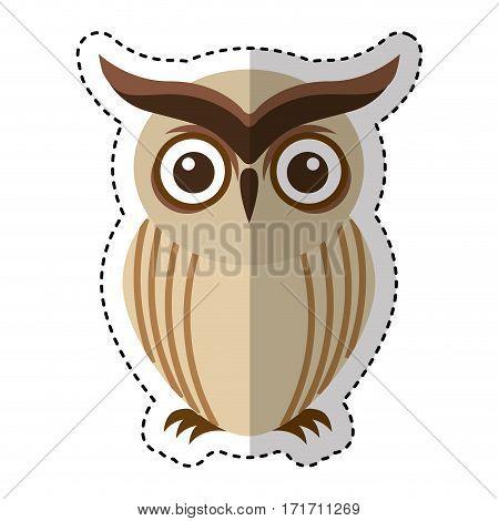 owl bird isolated icon vector illustration design