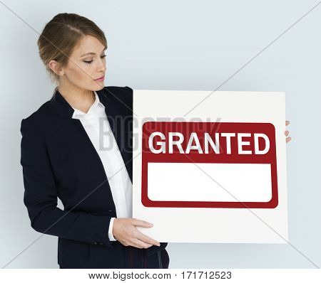 Granted Label Money Loan Finance Graphic