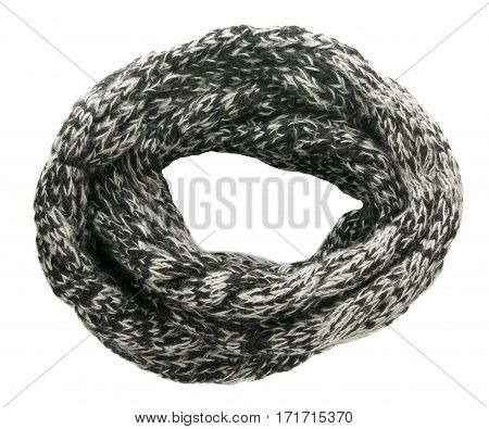 Scarf Isolated On White Background.scarf  Top View .gray Scarf
