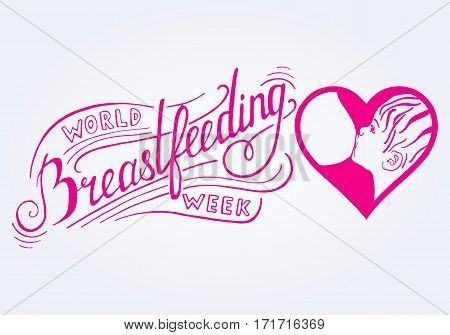 Breastfeeding.World breastfeeding week. Vector illustration for advertising promotion banners cards posters