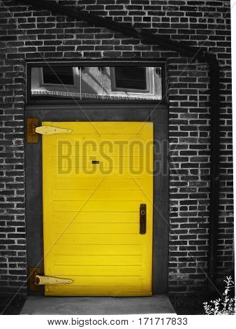 This is a photo of a yellow door.