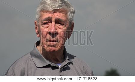 Old Man Or Senior Lost And Confused