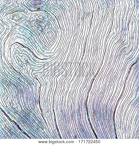 Wooden texture close up photo. White and grey wood background. Paper drawing of wood. Rustic timber digital illustration. Curves and lines on rough old tree. Natural timber texture. Sea wood backdrop