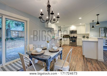 Newly Remodeled One Story Craftsman Home Interior.