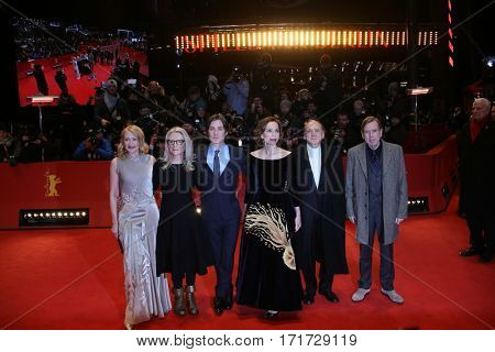 Patricia Clarkson, Cillian Murphy, Bruno Ganz, Timothy Spall during the 'The Party' premiere during the 67th Berlinale  Festival Berlin at Berlinale Palace on February 13, 2017 in Berlin, Germany.