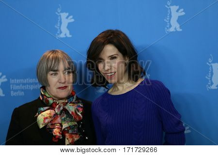 Director Aisling Walsh (L) and Actress Sally Hawkins (R) attend the photocall of 'Maudie' during the 67th Berlinale Film Festival Berlin at Grand Hyatt Hotel in Berlin, Germany on February 15, 2017